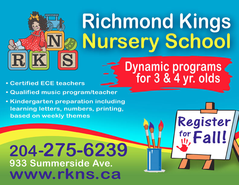 Richmond Kings Nursery School in South Winnipeg, Fort Richmond